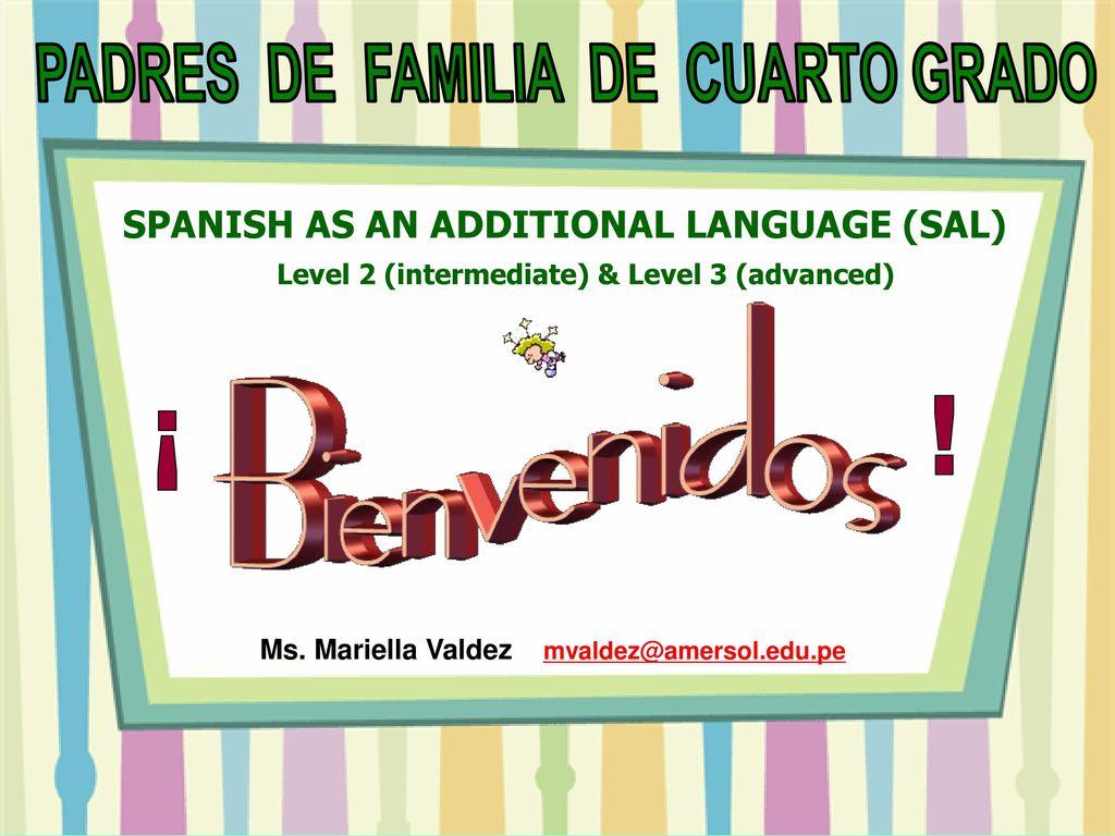 PADRES DE FAMILIA DE CUARTO GRADO - ppt download