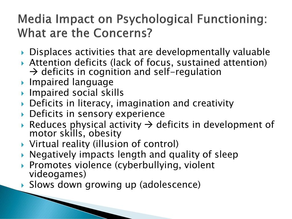 effect of electronic media