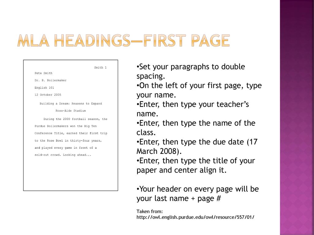 Mla Format Writing And Citing  Ppt Download  Mla