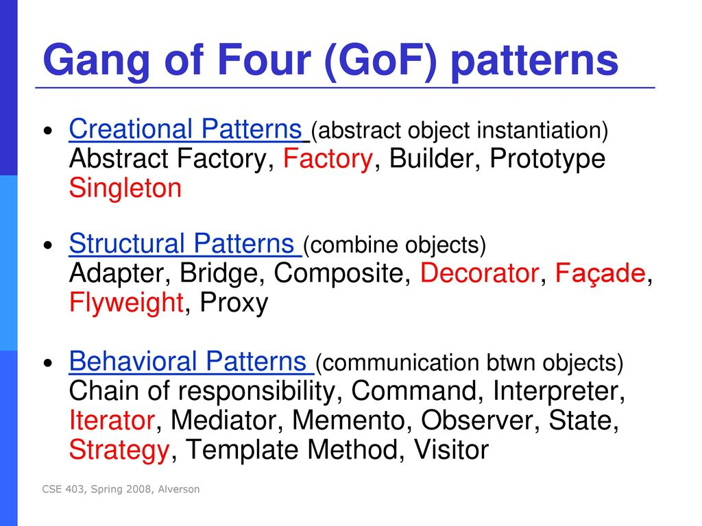 Gang Of Four Patterns Cool Inspiration Ideas