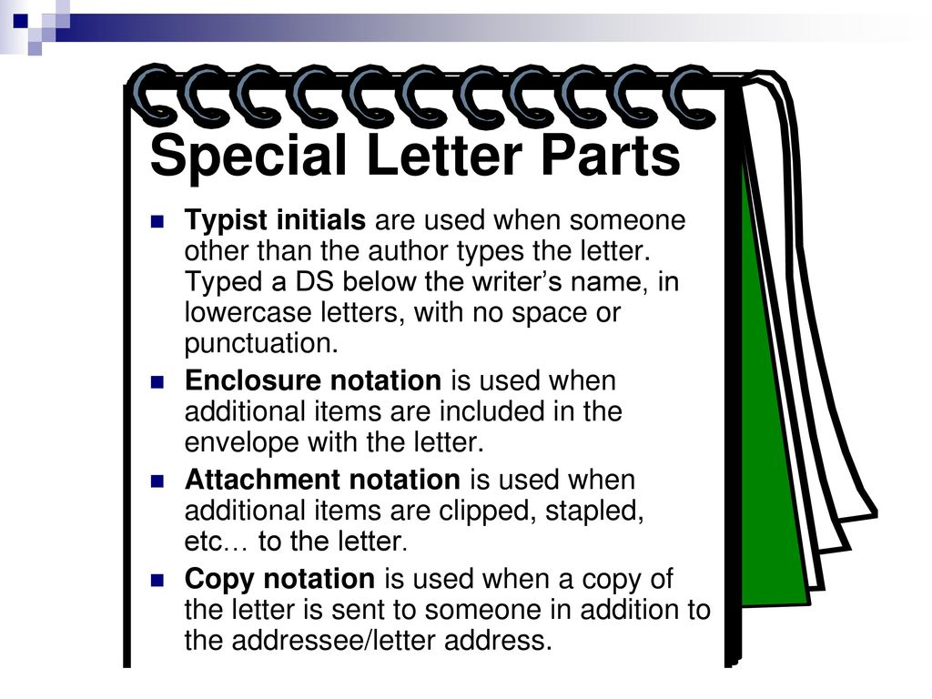 Memorandums and letters ppt download special letter parts spiritdancerdesigns Gallery