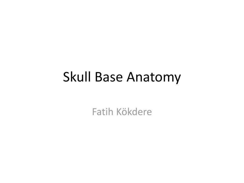 Skull Base Anatomy Fatih Kökdere. - ppt download