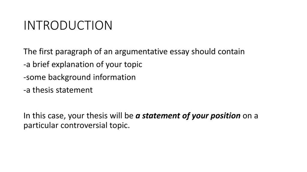 controversial topics for argumentative essay