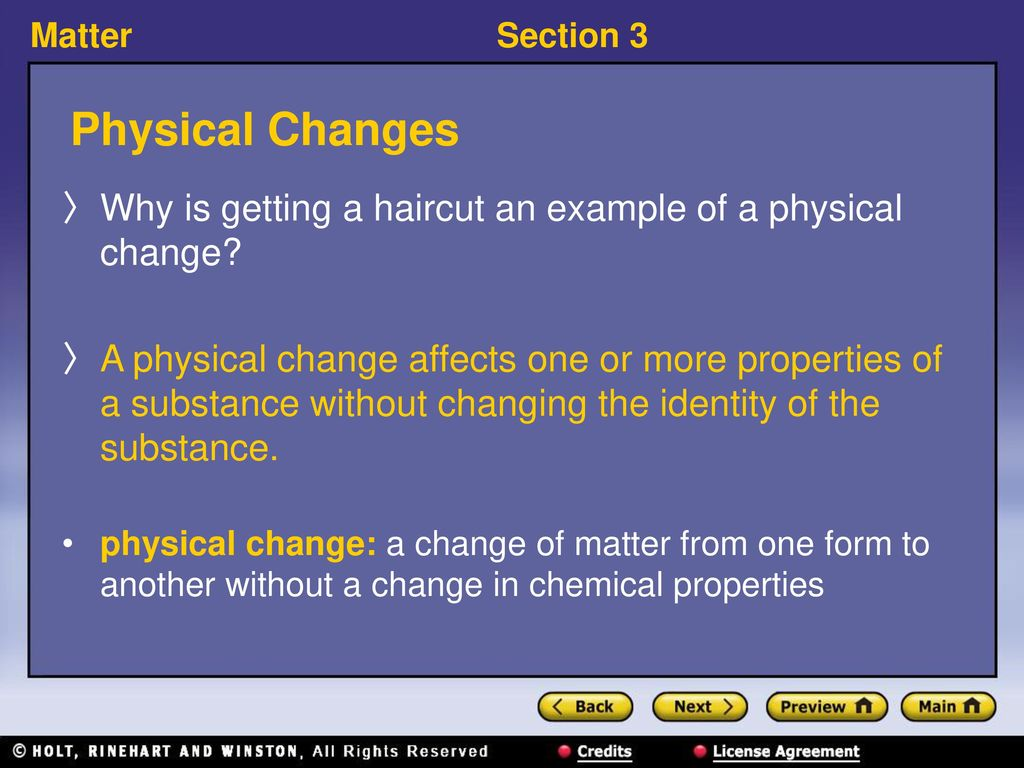 Section 3 Changes Of Matter Ppt Download