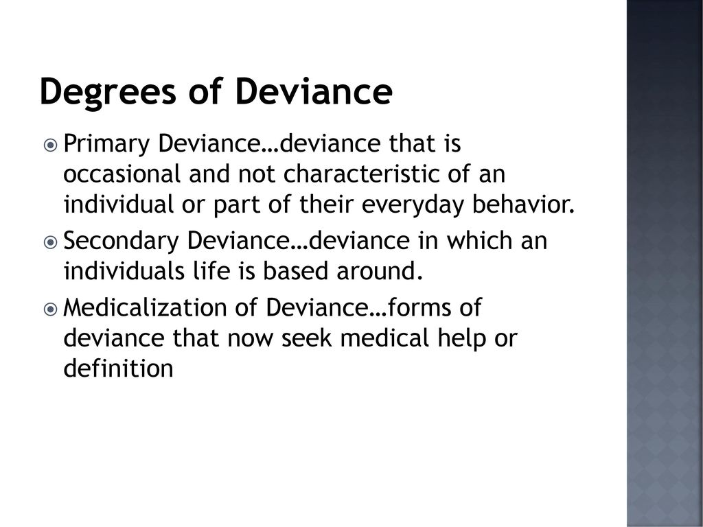 medicalization of deviance examples
