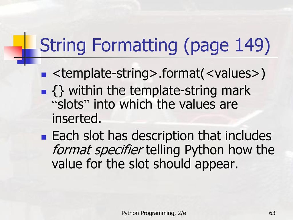 Python programming an introduction to computer science ppt download 63 string formatting maxwellsz
