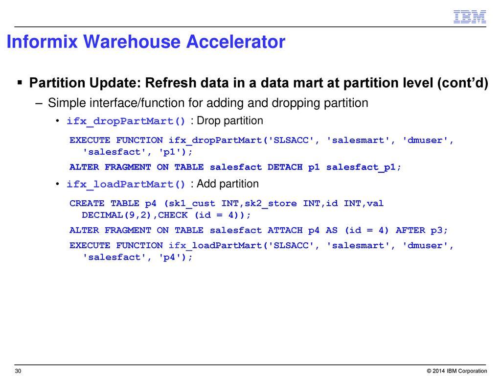 Informix Warehouse Accelerator - ppt download