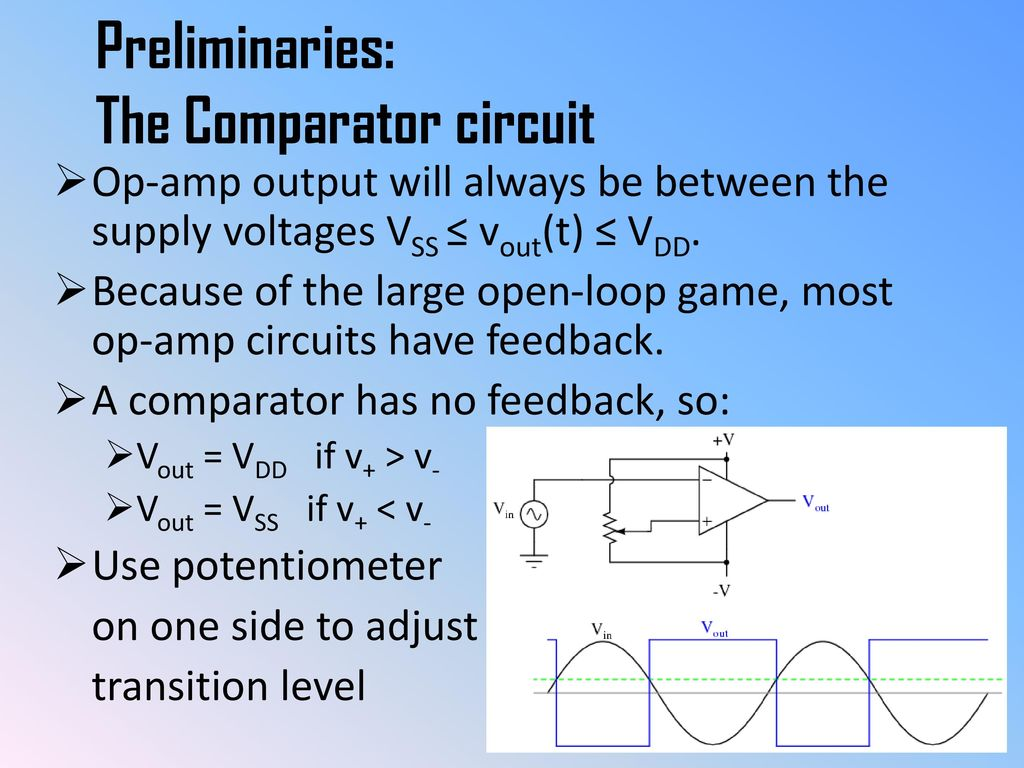 Chapter B Sensors Ppt Download Comparator Circuit Preliminaries The