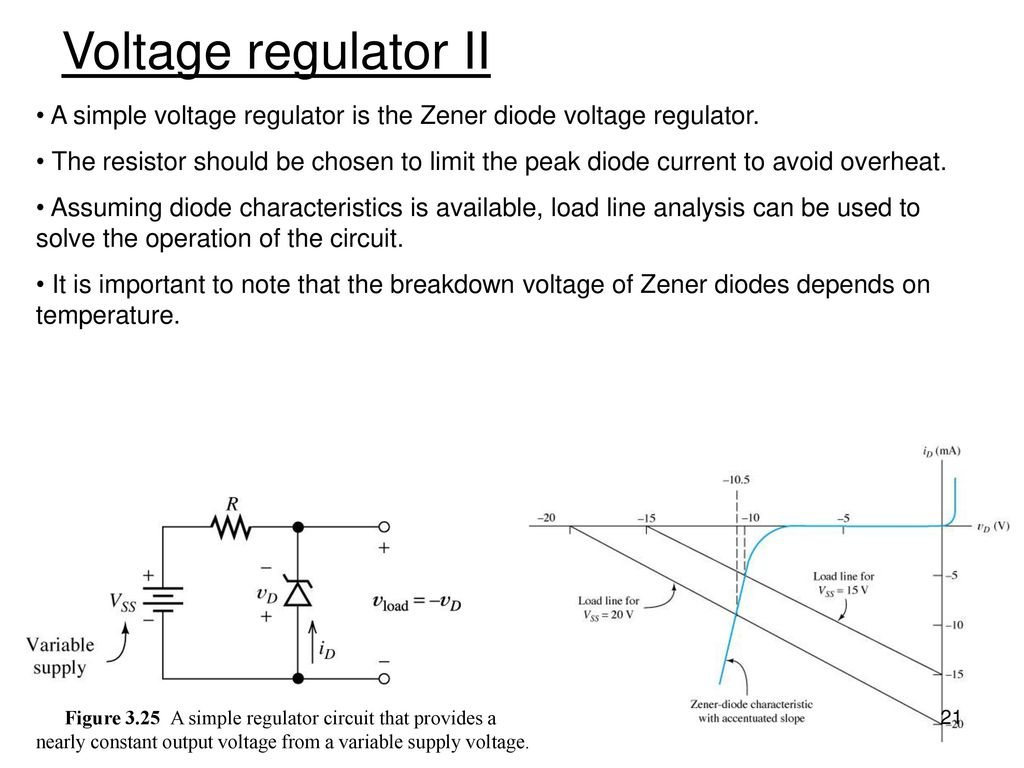 Chapter 3 Diode And Circuits Ppt Download A Zener In Simple Regulator Circuit 21 Voltage Ii Is The