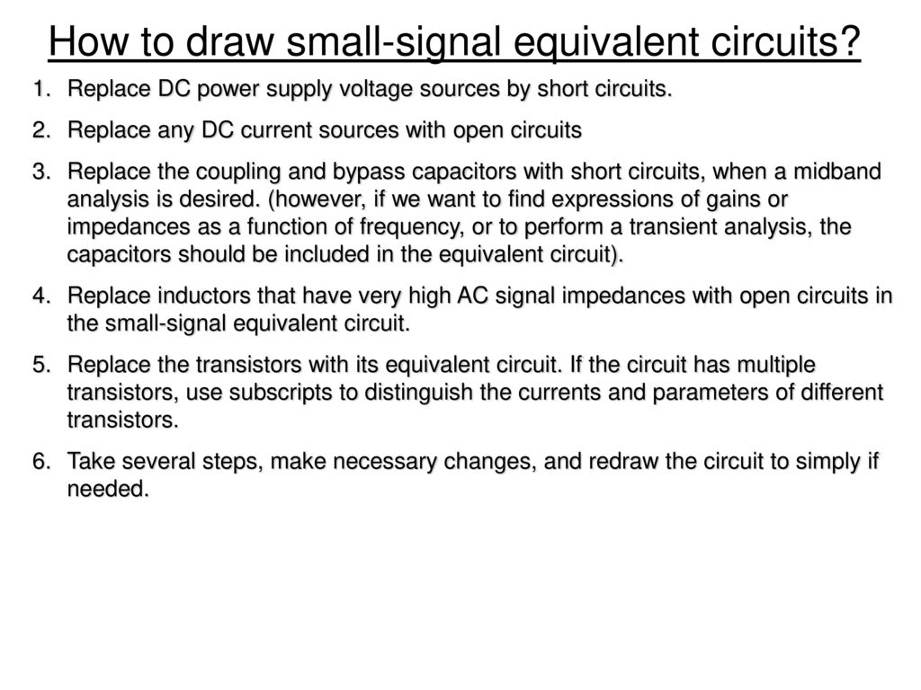 Chapter 3 Diode And Circuits Ppt Download Below Is A Transistor Circuit Which We Will Find The Midband Gain For How To Draw Small Signal Equivalent