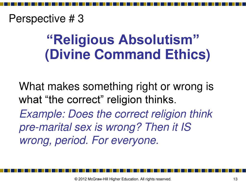 divine command ethics example