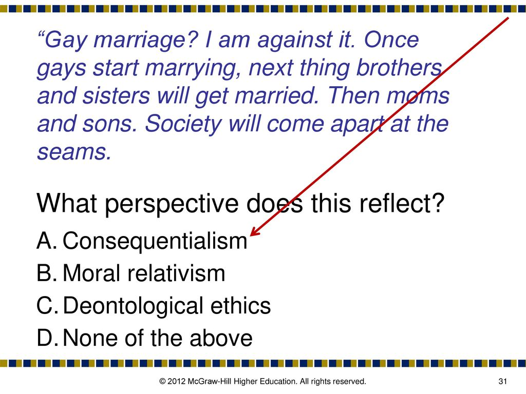 Consequentialist perspective on homosexuality in christianity
