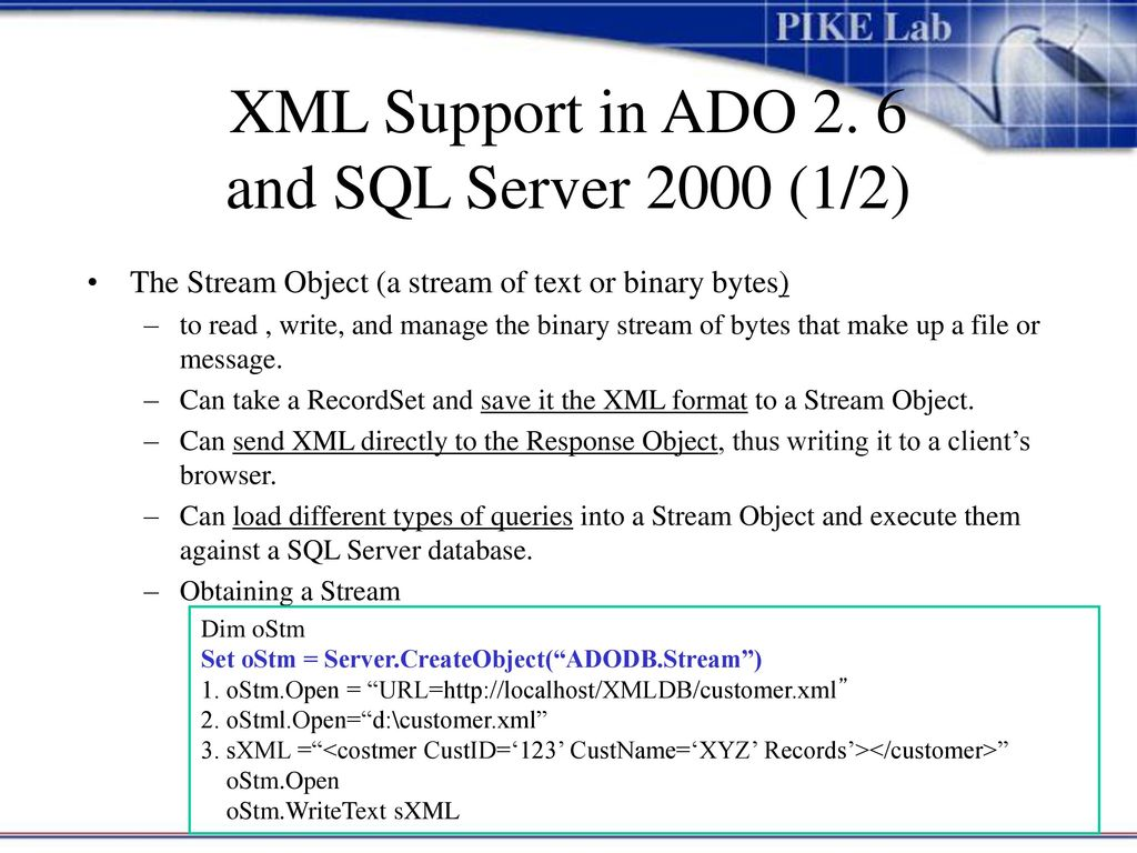 ADO(Active Data Objects), ADO+, and XML - ppt download