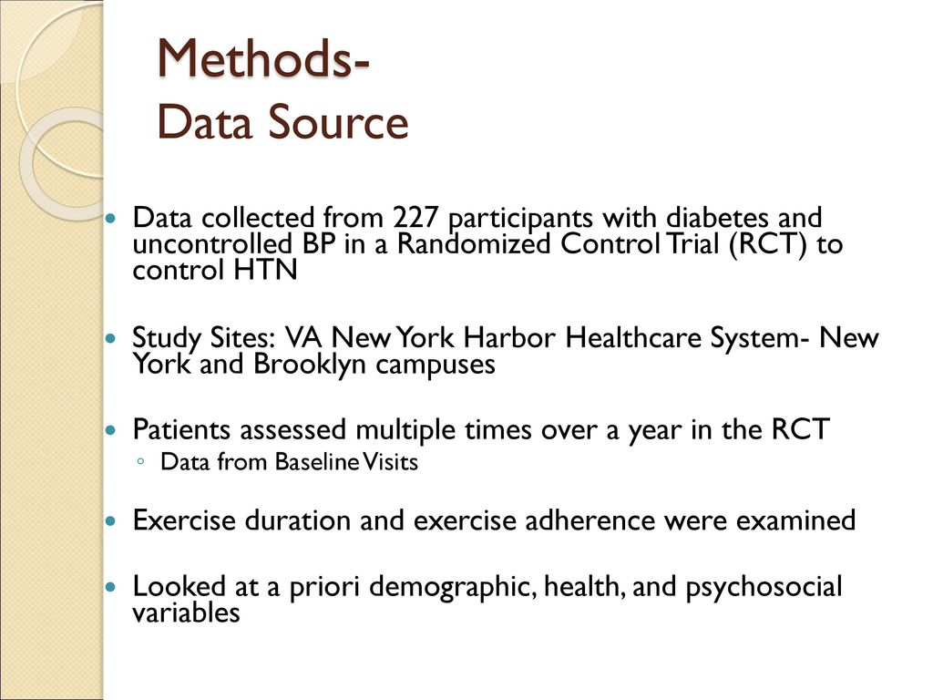 Exercise Adherence in Patients with Diabetes: Evaluating the