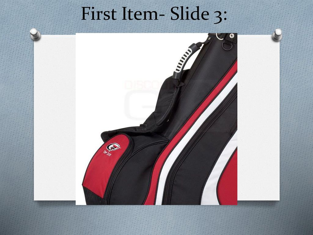 First Item- Slide 3: