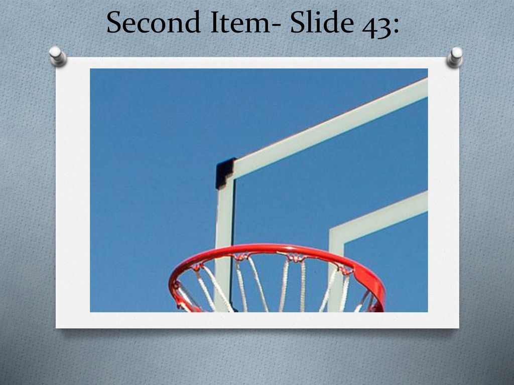 Second Item- Slide 43: