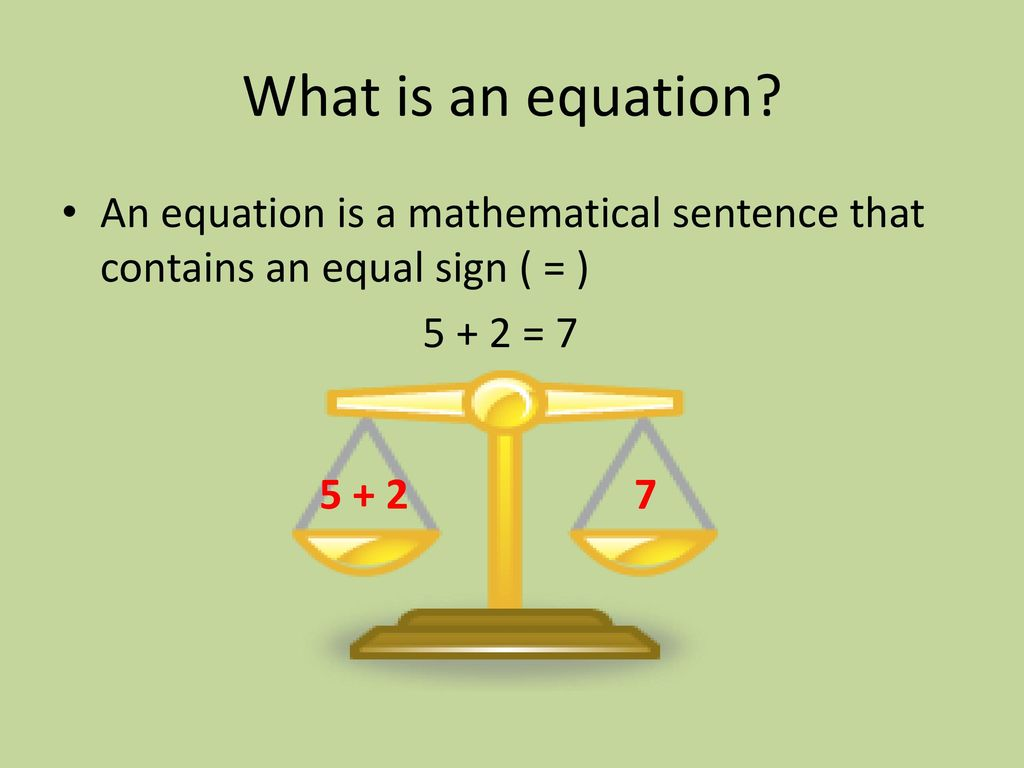 What is an equation