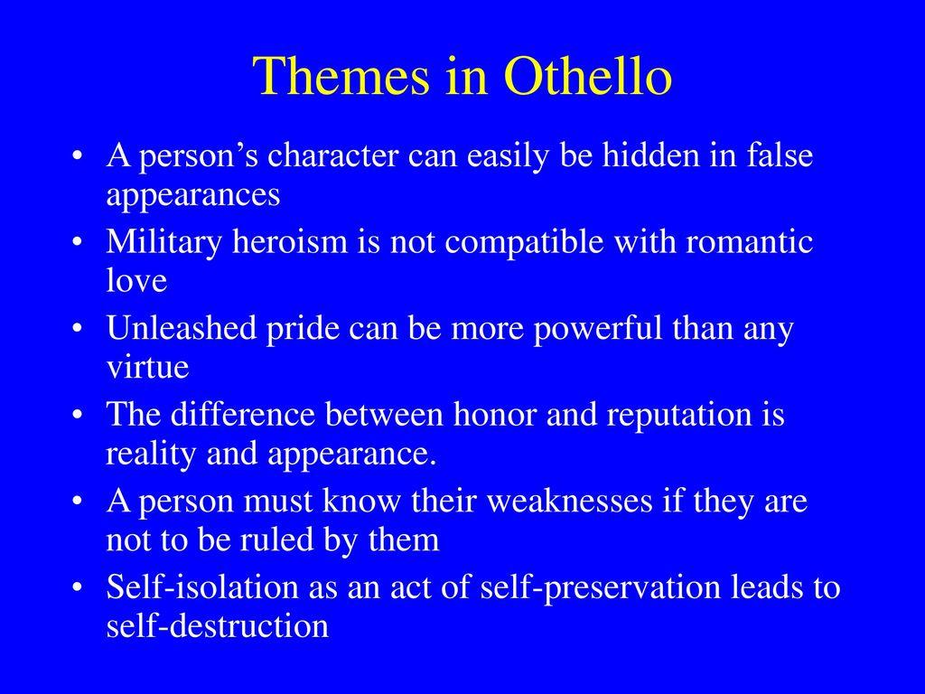 isolation in othello