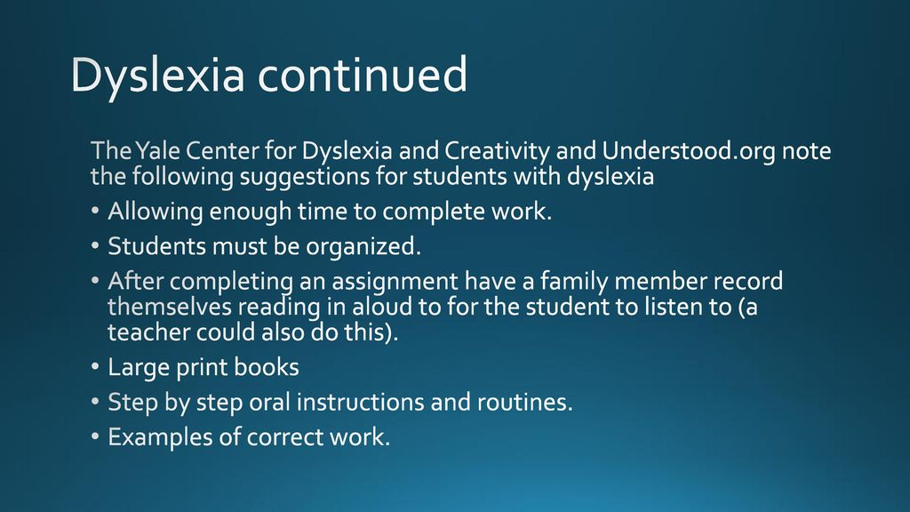 Dyslexia Symptoms Causes And Treatment Understood Org >> Final Project Lindsay Toothman Ivy Tech Community College Ppt Download