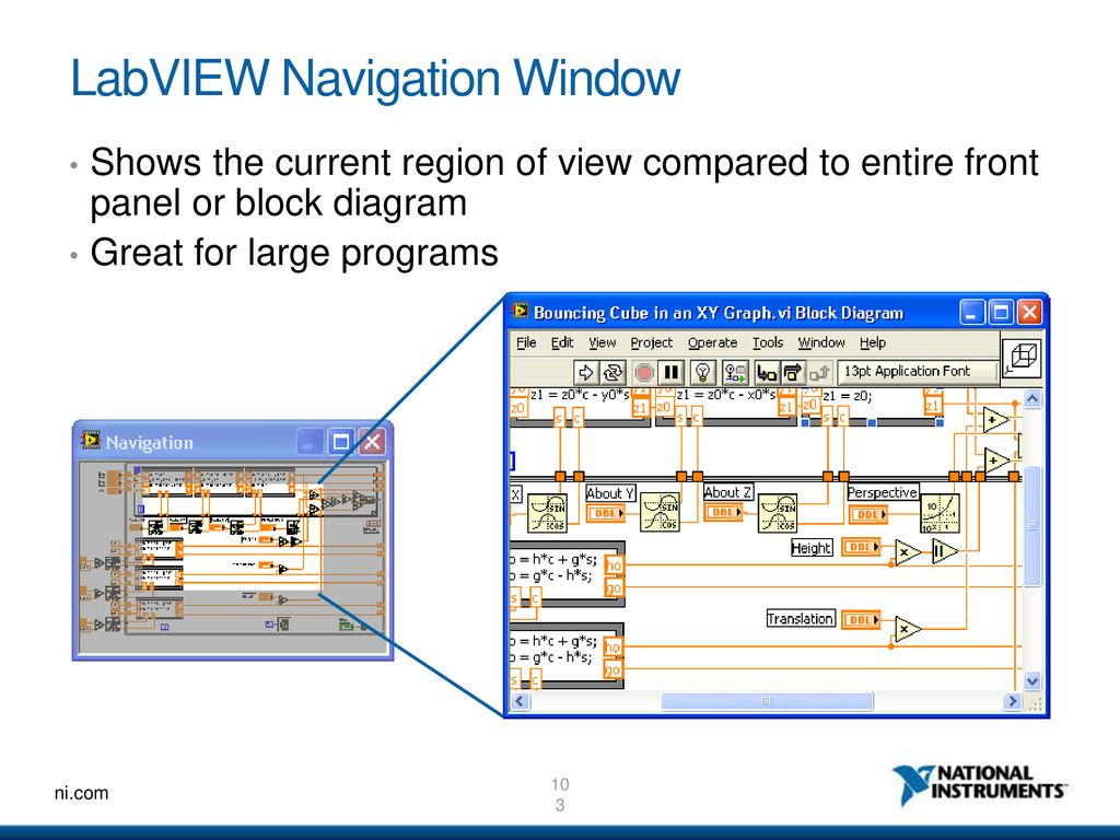 NI LabVIEW An Introduction to a Graphical System Design environment