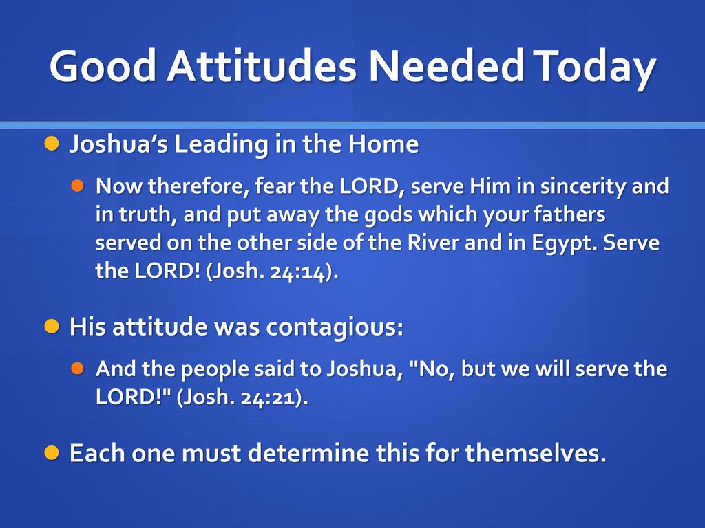 How to determine his attitude 86