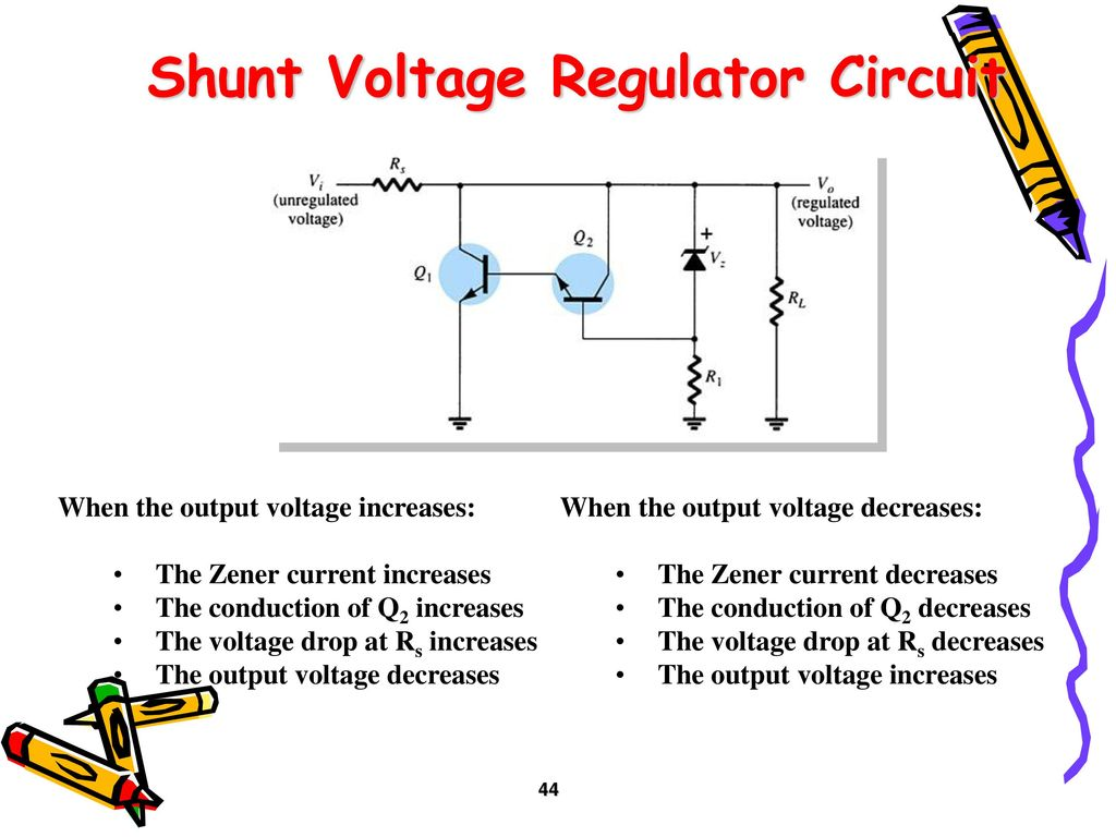 Rectifiers And Filters Ppt Download Rectifier Regulator Circuit Shunt Voltage
