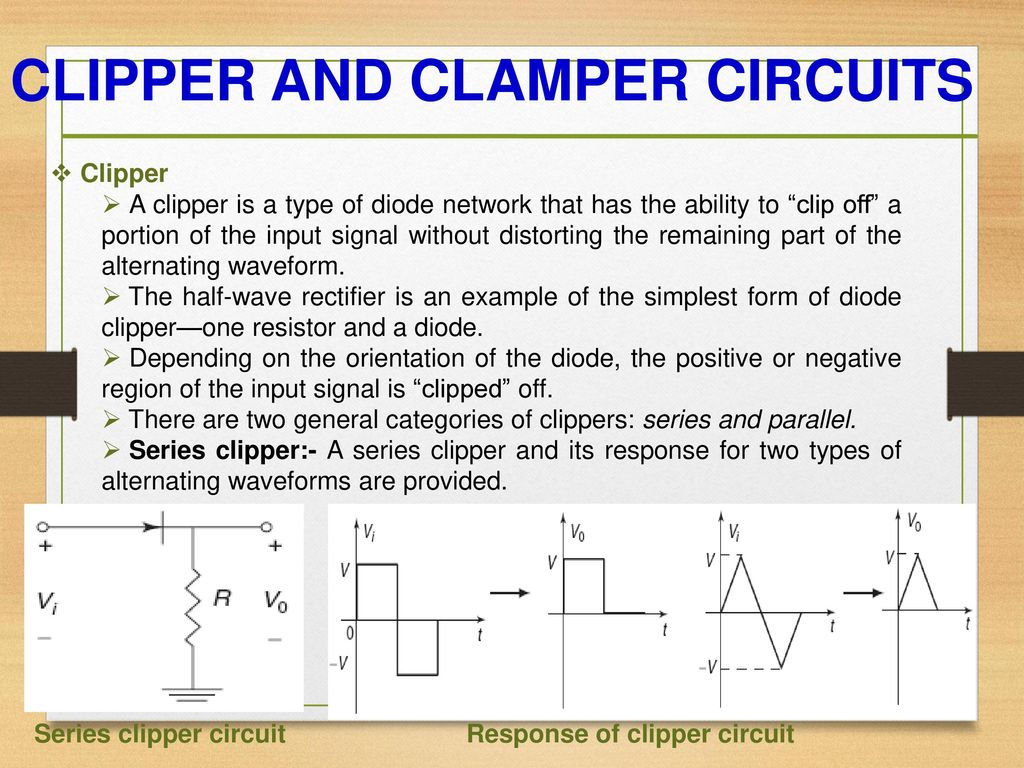 Diode Circuits Prepared By Kartik Vinodbhai Sorathiya Ppt Halfwave Rectifier Topology The Circuit Is A Clipper And Clamper