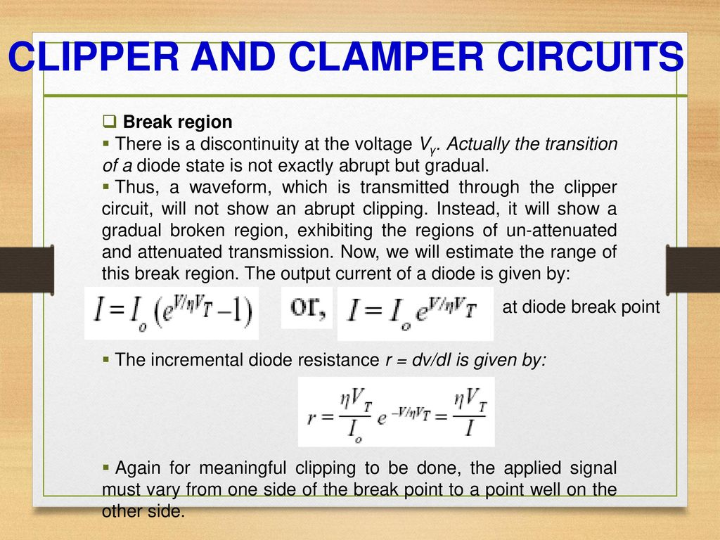 Diode Circuits Prepared By Kartik Vinodbhai Sorathiya Ppt Parallel Circuit Resistance As Well Series And Clipper Clamper