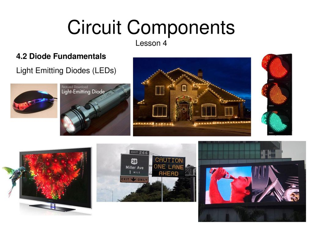 Circuit Components 41 Amplifier Fundamentals Ppt Download With Discoloring Lightemitting Diode Basiccircuit 11 Lesson 4 42 Light Emitting