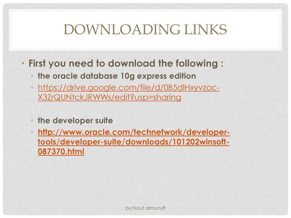 oracle devsuite 10g download