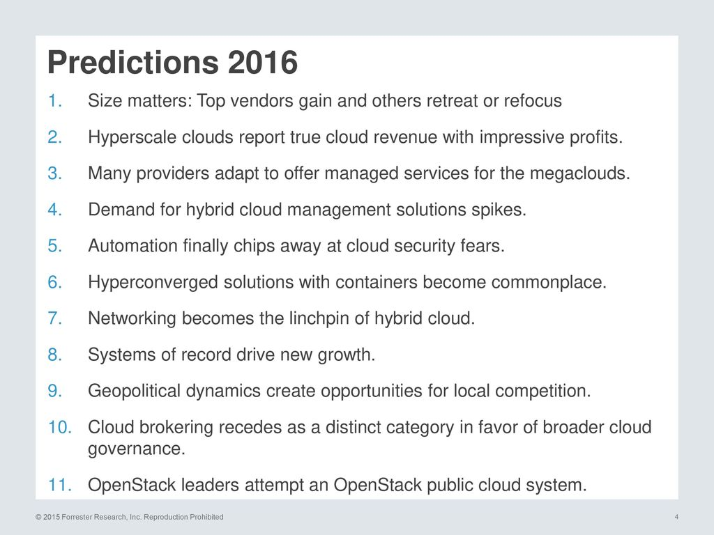 WEBINAR Cloud Predictions ppt download