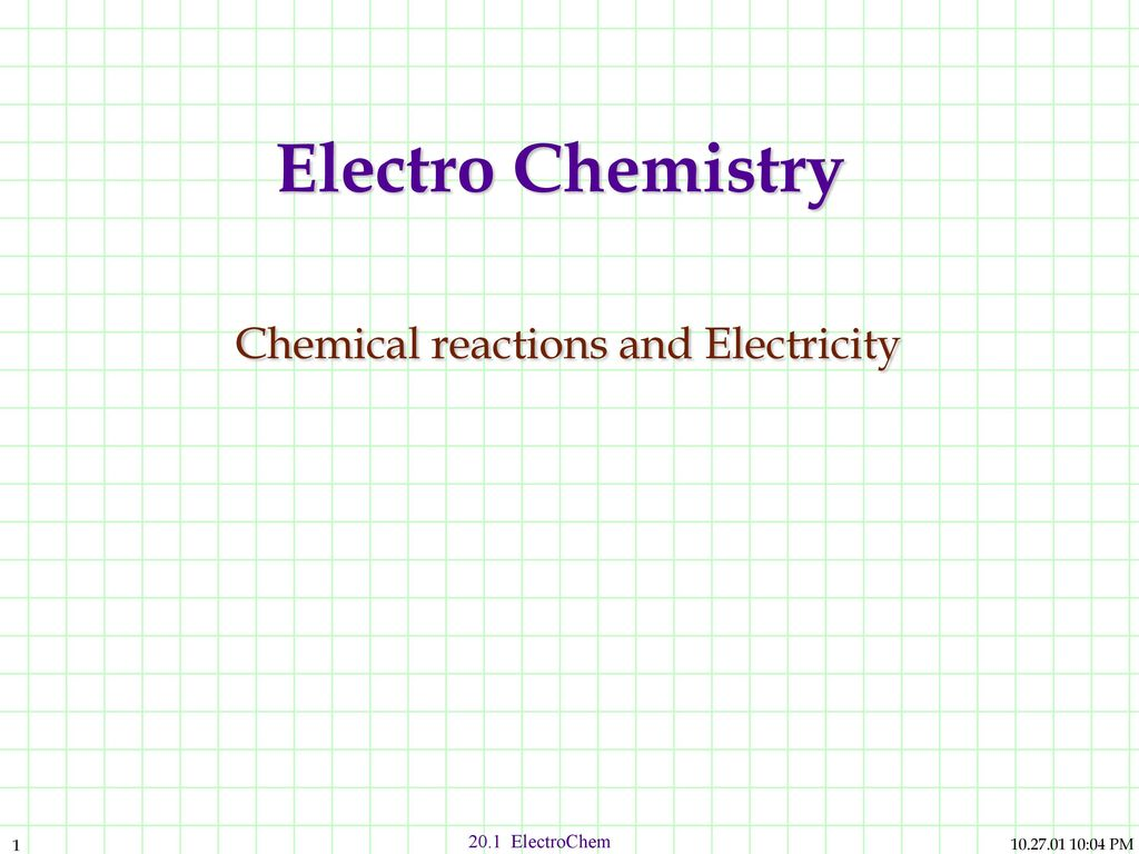 Electro Chemistry Chemical Reactions And Electricity Ppt Download