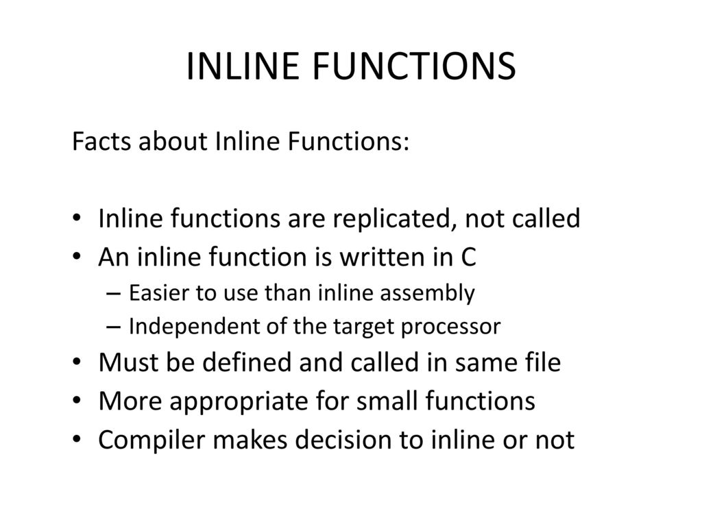 Chapter 13 Inline Code  - ppt download