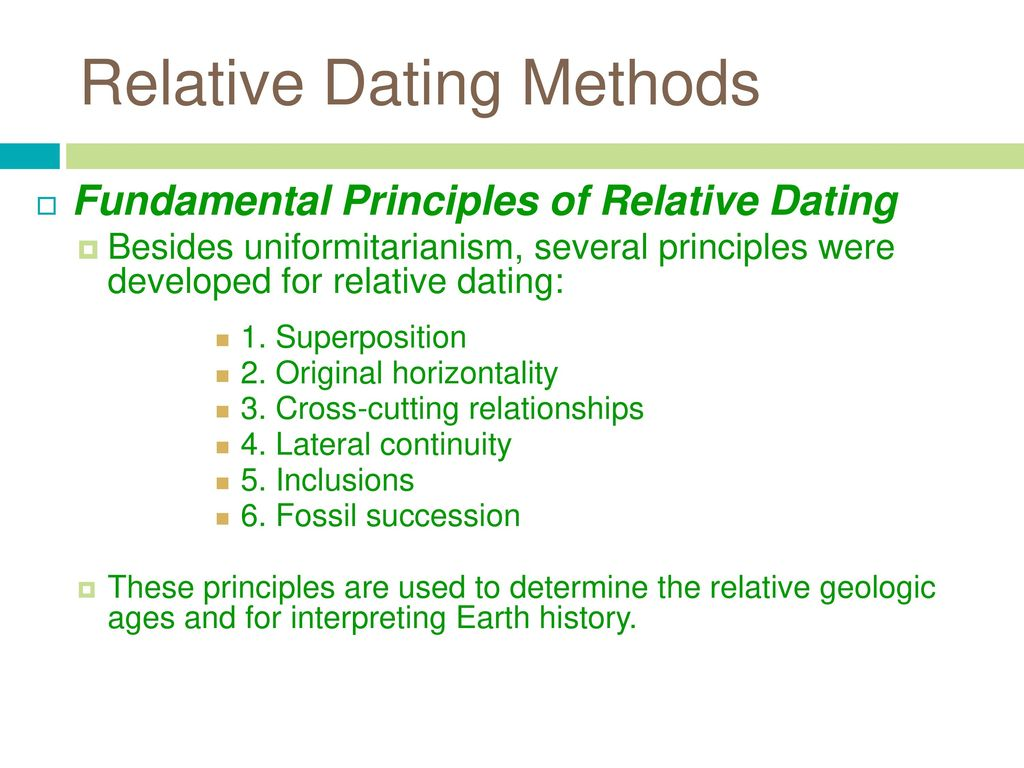 Superposition dating method