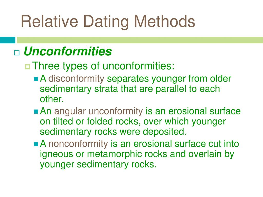 what are three methods of dating rocks