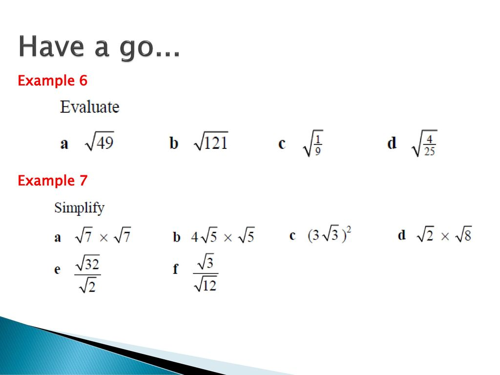 Operations With Surds As Maths Ppt Download