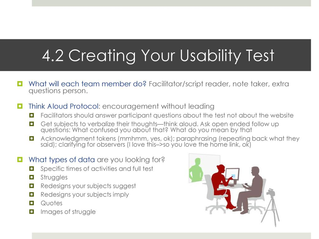 Usability Tests Developing Scenarios Ppt Download