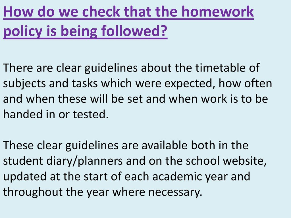 dcsf homework guidelines