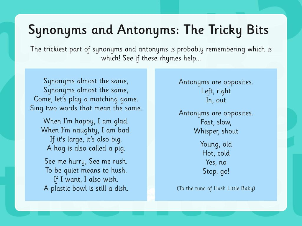 Year 20 Grammar Revision Synonyms & Antonyms.   ppt download