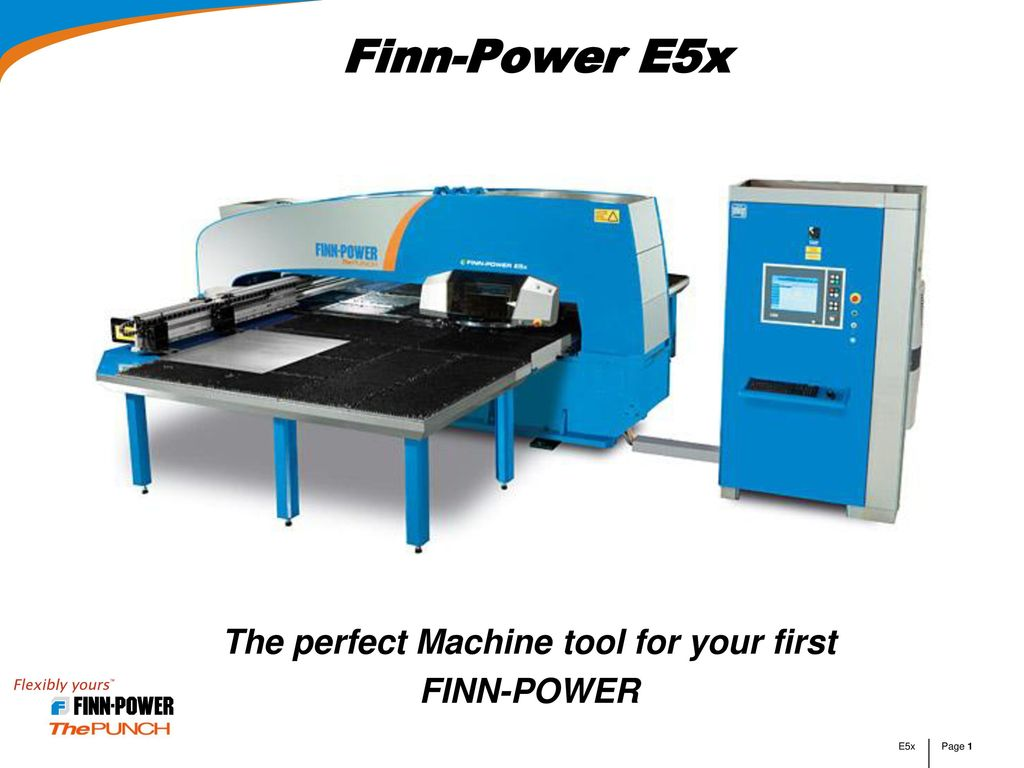 The perfect Machine tool for your first FINN-POWER