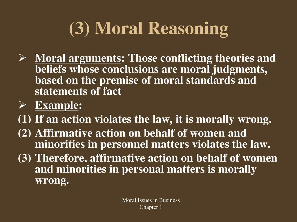 examples of moral issues in business