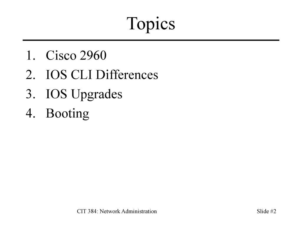 CIT 384: Network Administration - ppt download