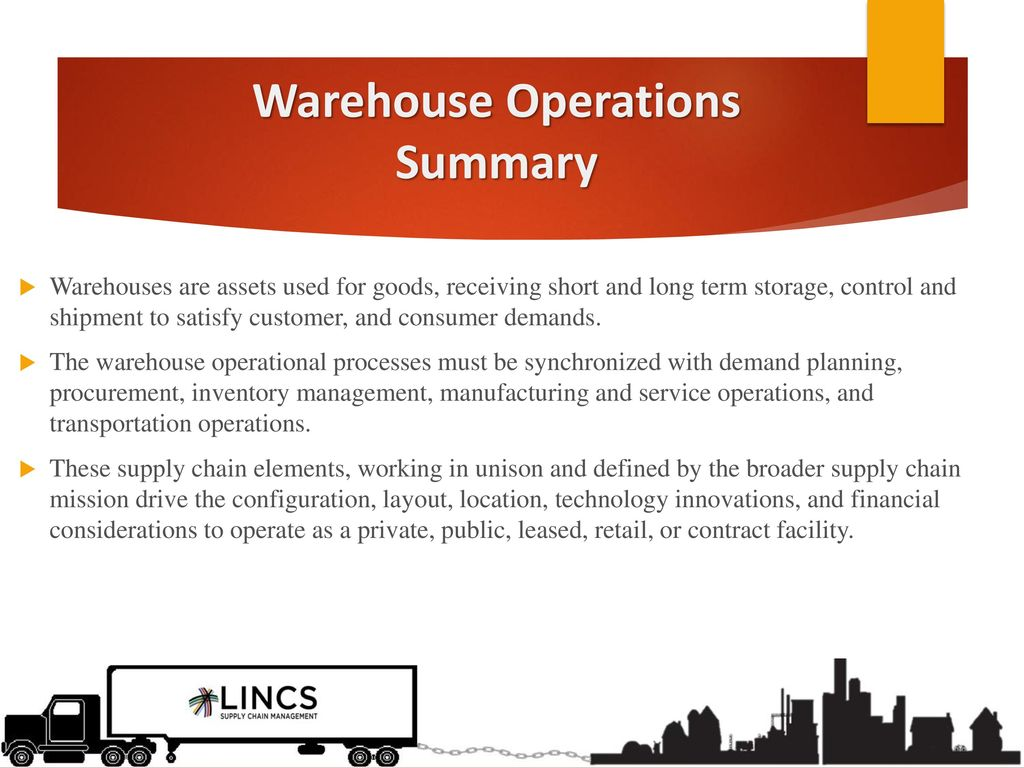 Warehousing Operations Certification Track - ppt download