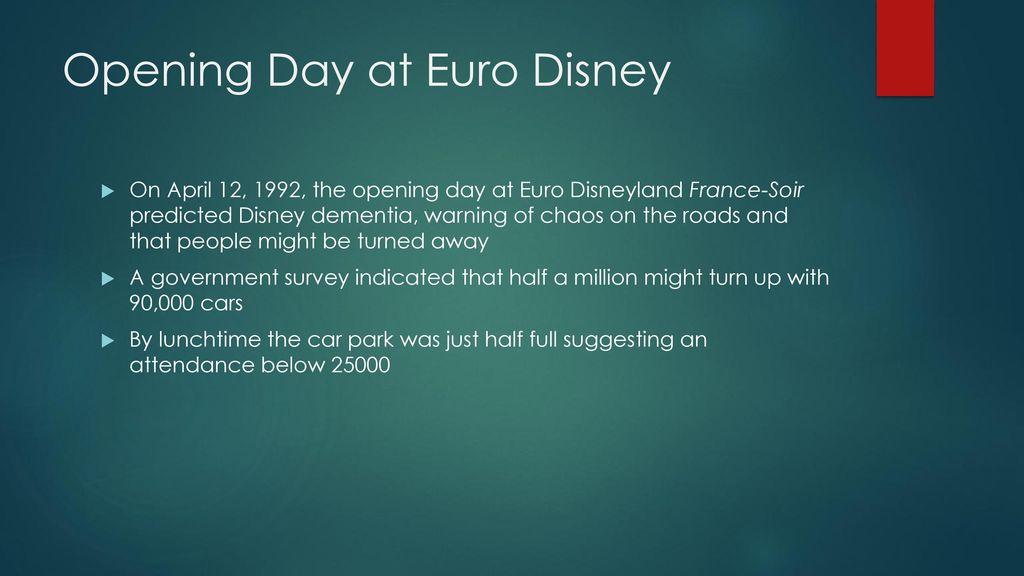 euro disney opening day