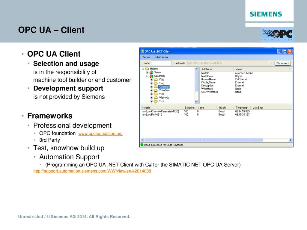 SINUMERIK Integrate Access MyMachine /OPC UA - ppt download