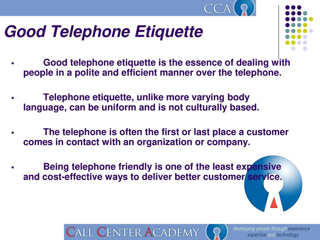 Good Telephone Etiquette