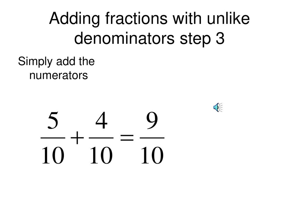 adding fractions instructions - ppt download