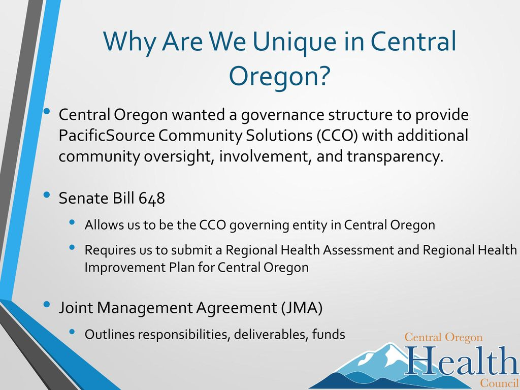 The Central Oregon Health Council Cohc The Coordinated Care