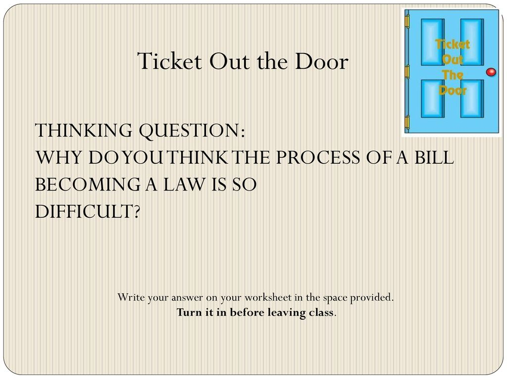 How A Bill Becomes A Law Monday 10 24 Ppt Download
