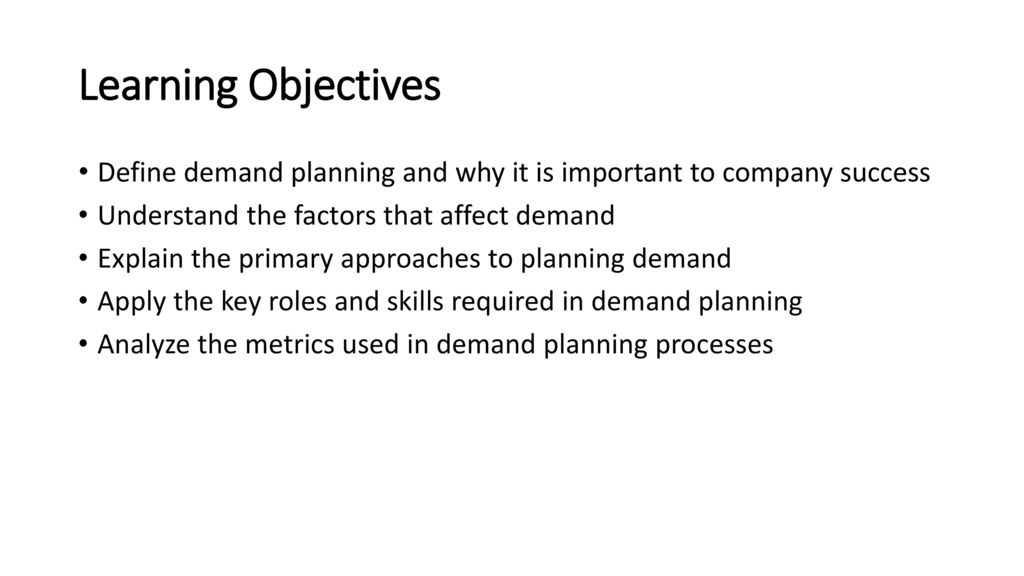 Learning Block 1 Introduction to Demand Planning - ppt download